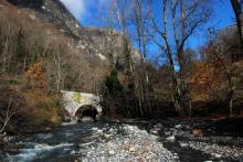 Le Pont vieux sur la Malsanne © Bernard Nicollet - Parc national des Ecrins