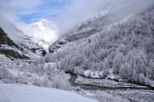 La Dublée dans la brume - Le torrent -  Réallon ©Coulon Mireille - Parc national des Ecrins