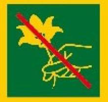 Picto règlementation - Parc nationaux - interdiction cueillette