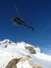 hélicoptère - © H-Quellier - Parc national des Ecrins
