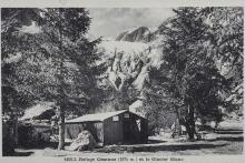 Le refuge Cézanne (1874 m) et le glacier Blanc - collection Lucien Tron