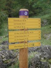 signalétique Parc national des Ecrins - photo Stéphane D'houwt - Parc national des Ecrins