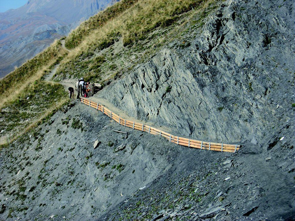 chantier sentier des crevasses