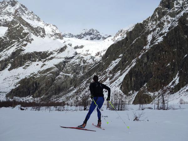 piste temporaire ski de fond au Pré de Mme Carle - dec 2014 - © Thierry Maillet - Parc national des Ecrins