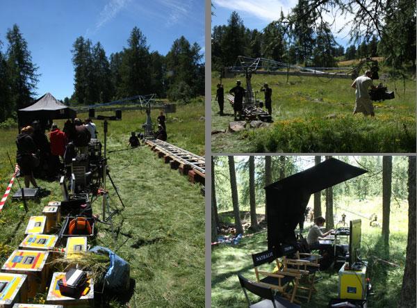 tournage de Minuscule dans le Champsaur et le Valgaudemar - photos Parc national des Ecrins