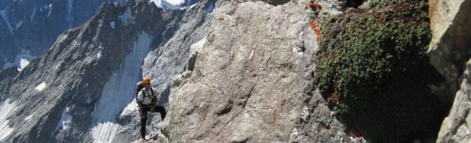 pilier sud des Ecrins - programme ecologie verticale parc national des Ecrins - photo S Ibanez