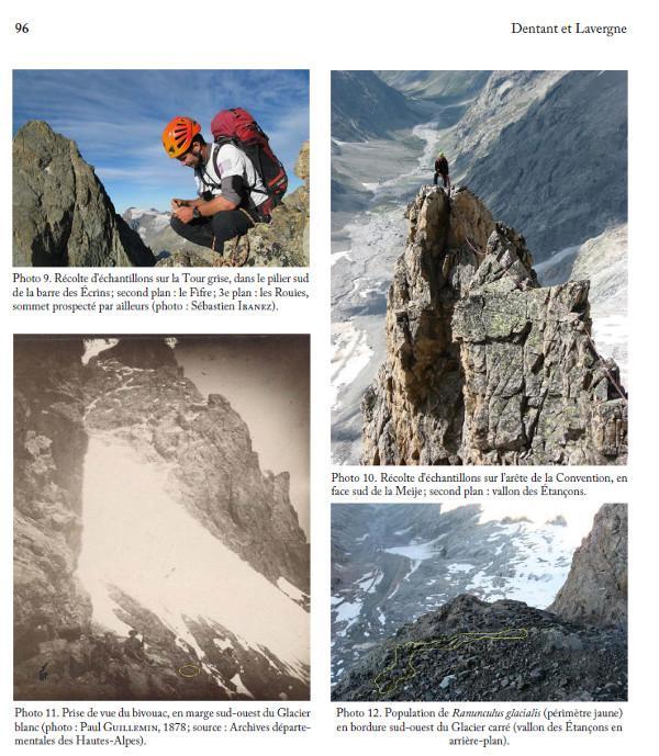 publication - programme ecologie verticale - parc national des Ecrins