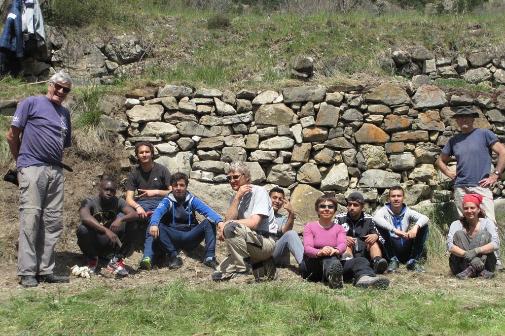 15-05-chantier mur reallon - Parc national des Ecrins