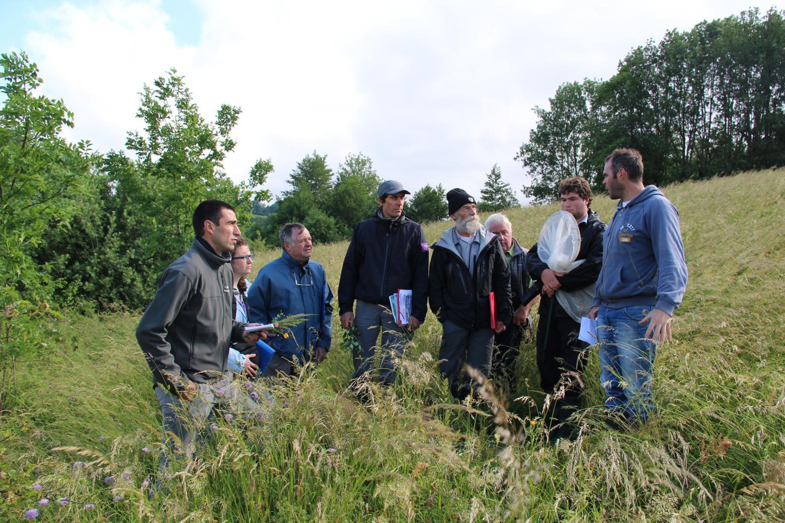 Jury Concours prairies fleuries - Valgaudemar - juin 2015 - © Agnes Thiard - Parc national des Ecrins