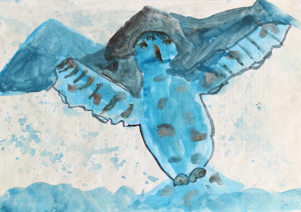 Alma-Proust-Laureat concours dessin 5/7 ans - hiver 2015 - Parc national des Ecrins