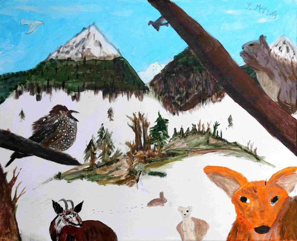 Prix collectif-Laureat concours dessin hiver 2015 - Parc national des Ecrins