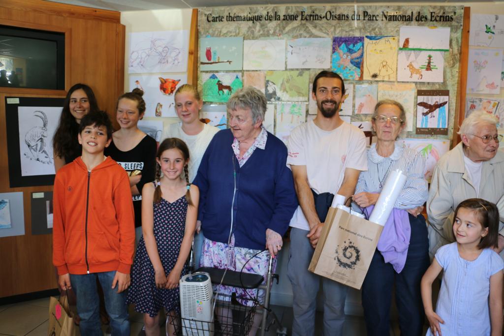Laureat concours dessin hiver 2015 - Parc national des Ecrins
