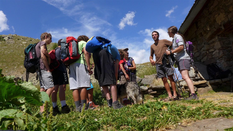 Rencontre avec le berger © Jean-Philippe Telmon - Parc national des Ecrins