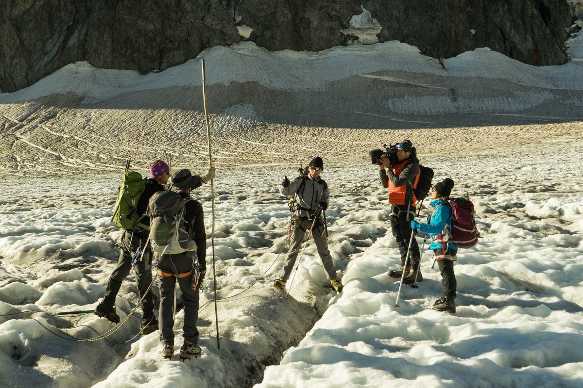 2015-08-tournage au glacier Blanc - © Abdou Martin