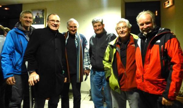 6 glaciologues réunis à Villar d'arène en décembre 2013 - photo Luc Moreau