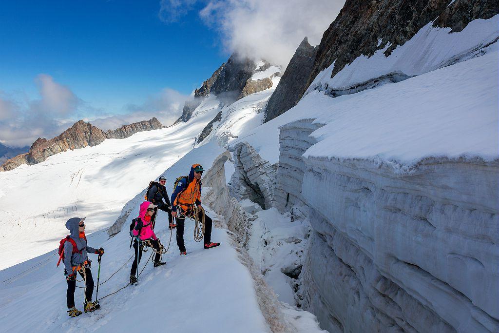 Sortie initiation alpinisme - Esprit parc national - photo Bertrand Bodin - Parc national des Ecrins