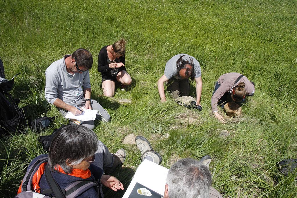 Atelier malacologie à Joutelles - photo ClG - Parc national des Ecrins