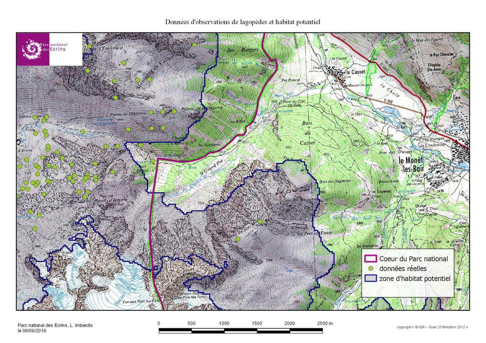 aire habitat lagopède Arsine - Briançonnais - Parc national des Ecrins