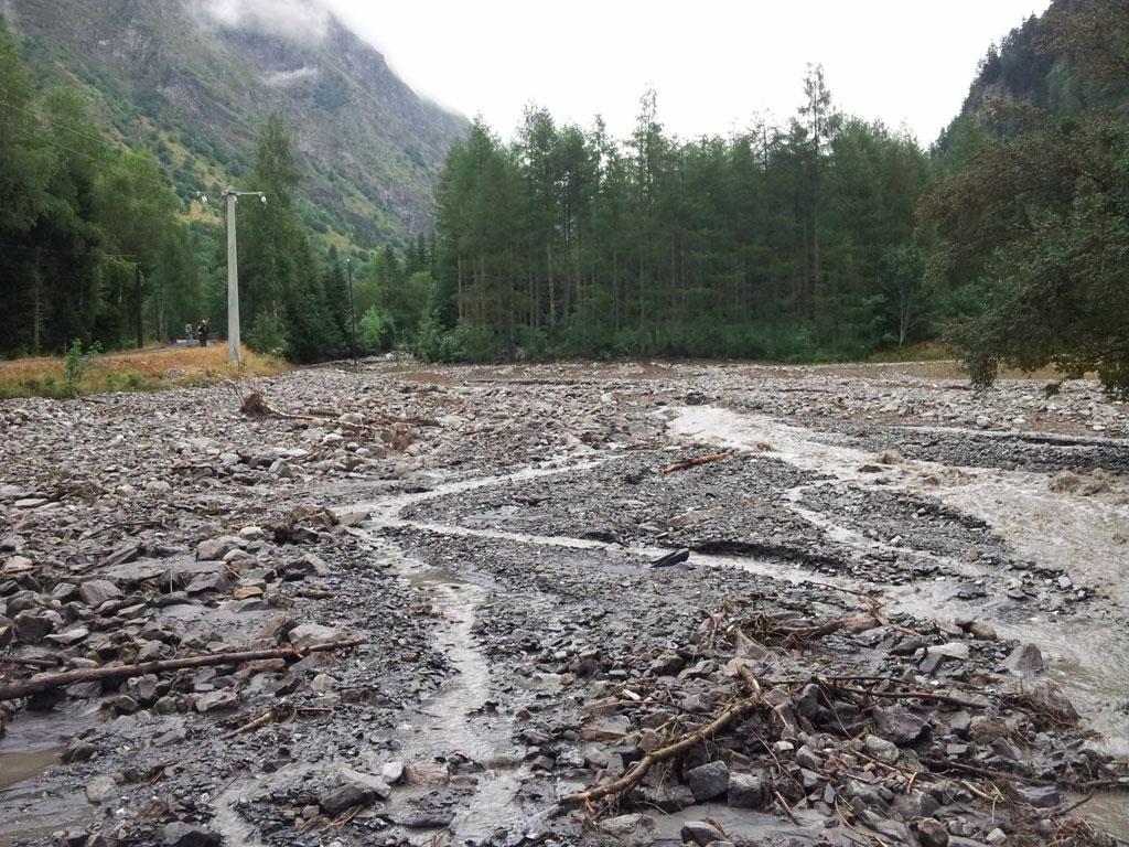 Laves torrentielles - juillet 2015 © Bernard Nicollet - Parc national des Écrins