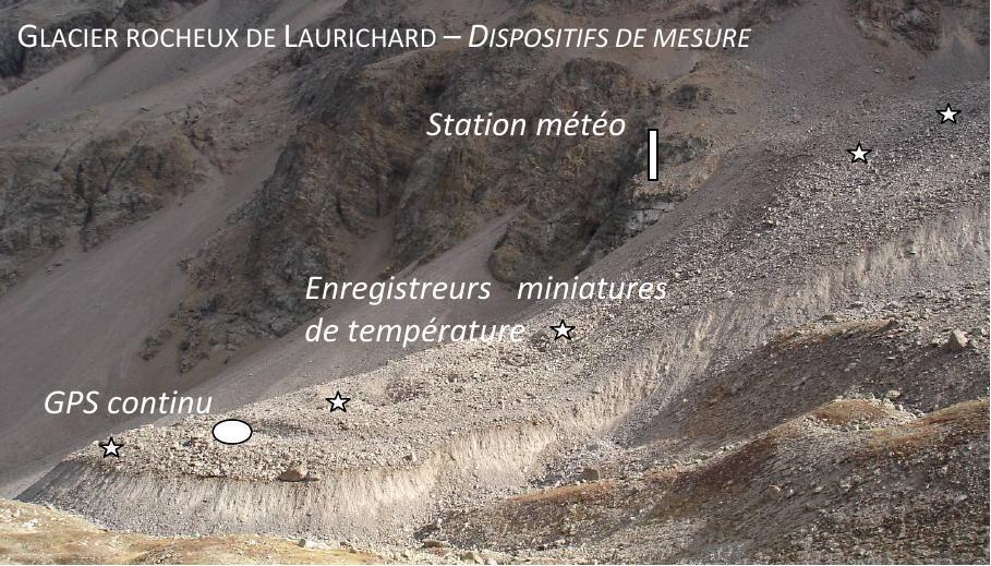 Glacier rocheux du Laurichard commenté
