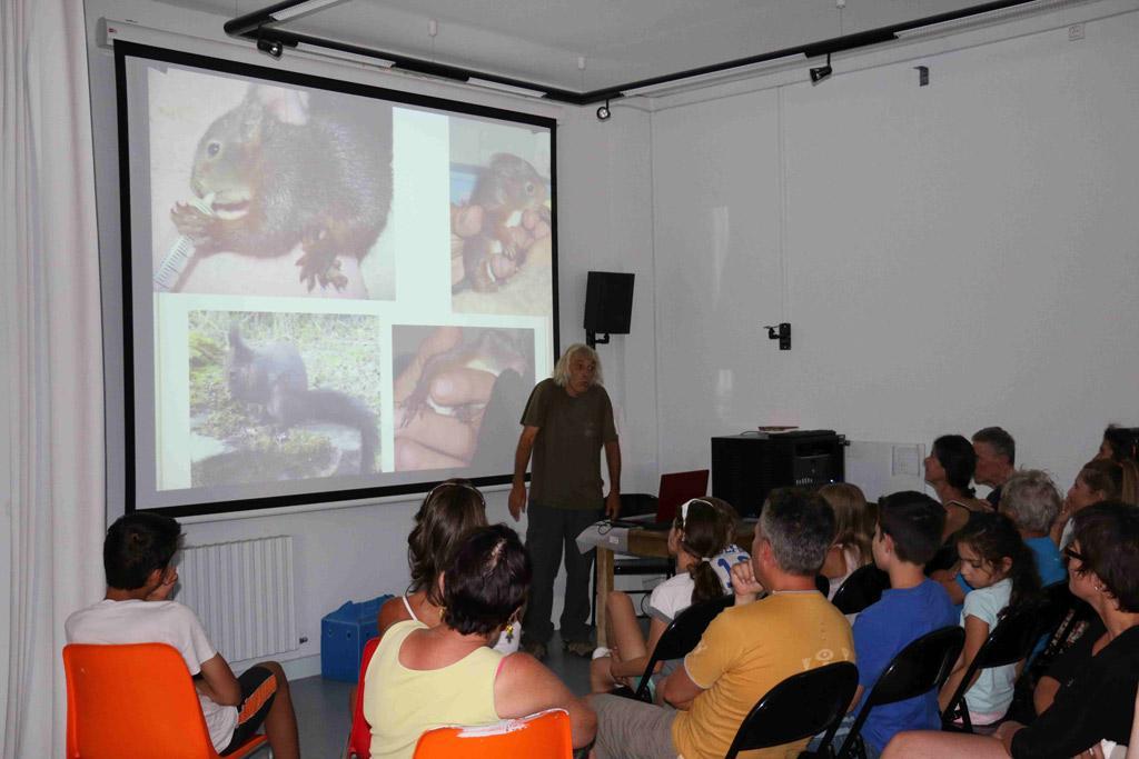 Conférence Michel Phisel - centre de soins - Le Casset - été 2016 - photo Parc national des Ecrins