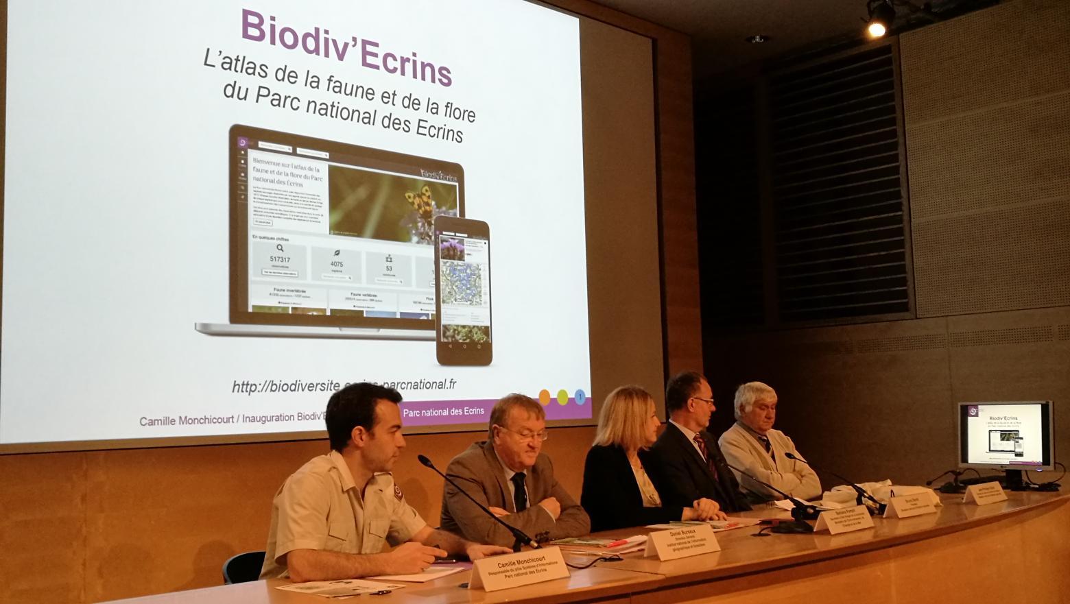 Inauguration Biodiv'Ecrins au muséum national d'histoire naturelle à Paris - 29 novembre 2016 © Parc national des Ecrins