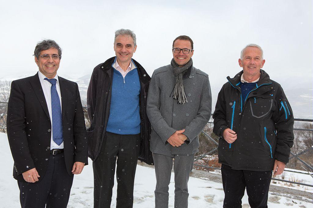 Michel Sommier, Bertrand Galtier, Pierre Commenville, Philippe Traub - 4 directeurs du Parc national des Ecrins © P-Saulay- Parc national des Ecrins