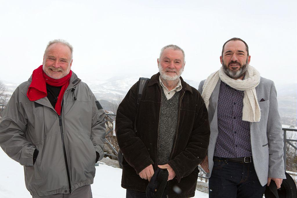 Hervé Cortot, Lucien Tron, Richard Bonet, 3 responsables du service scientifique - © P-Saulay- Parc national des Ecrins
