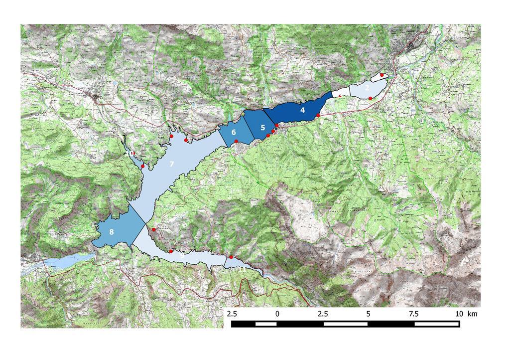 Carte répartition des effectifs - Parc national des Écrins - 2017