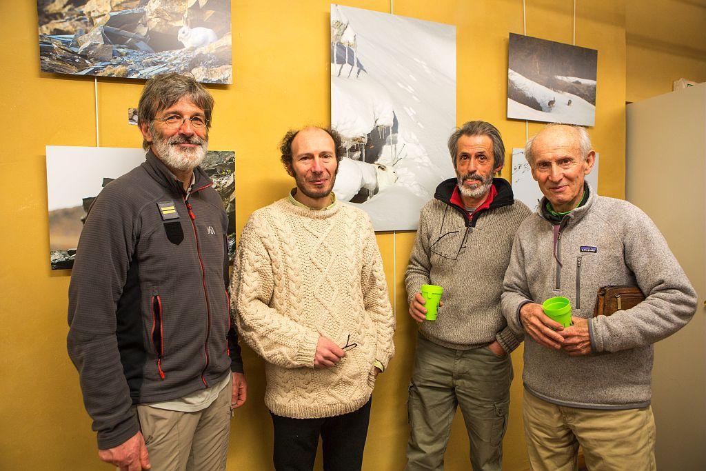 Michel Bouche, Frank Neveu, Bernard Pons, Jean Guillet - © P.saulay- Parc national des Ecrins