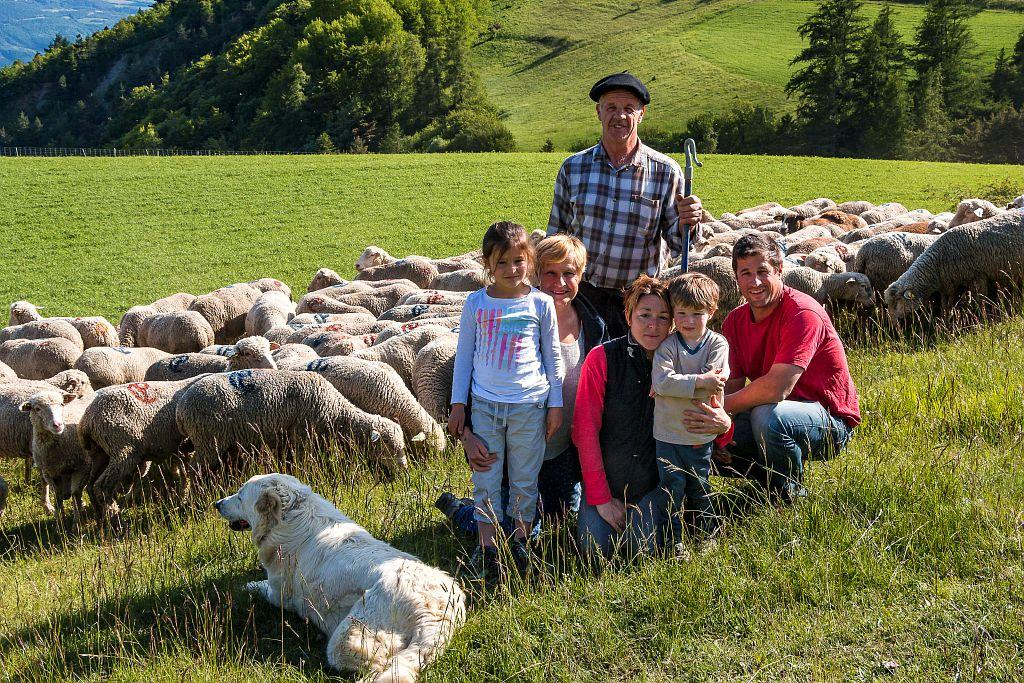 Filière viande - Gaec famille Pélissier - © B. Bodin - Parc national des Ecrins