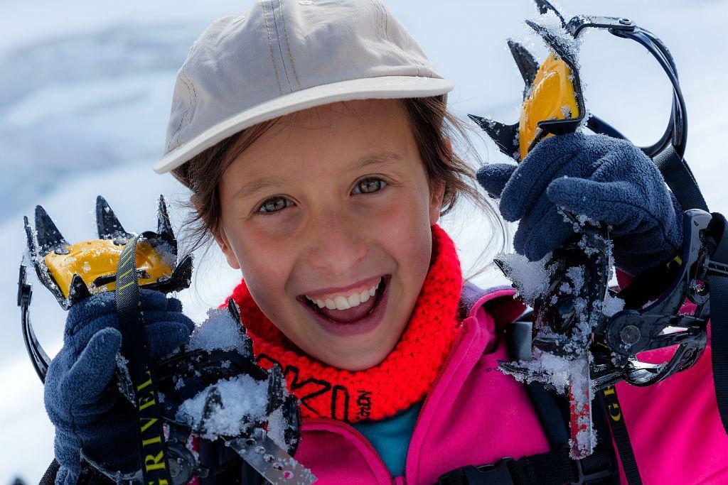 Initiation randonnée glaciaires avec Chrisophe Dureau, guide - © B.Bodin - Parc national des Écrins