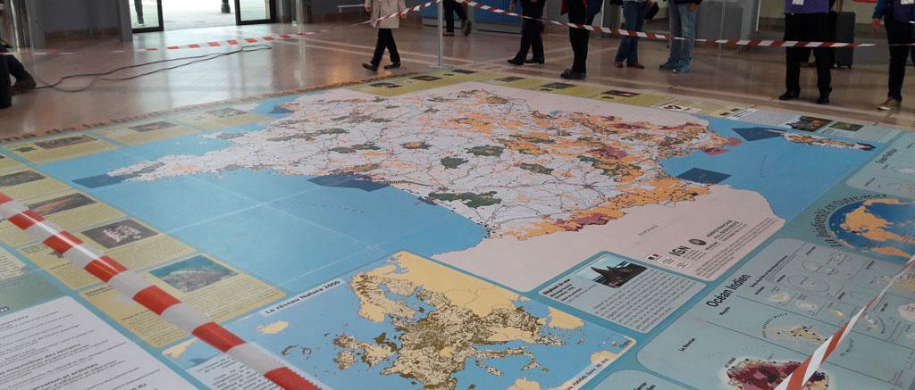 IGN - Inauguration de la carte géante de la biodiversité et des espaces protégés en France