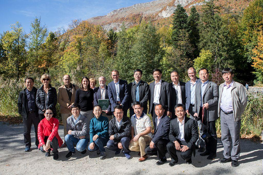Accueil d'une délégation chinoise dans le Parc national des Ecrins - octobre  2017 - © P.Saulay - Parc national des Écrins
