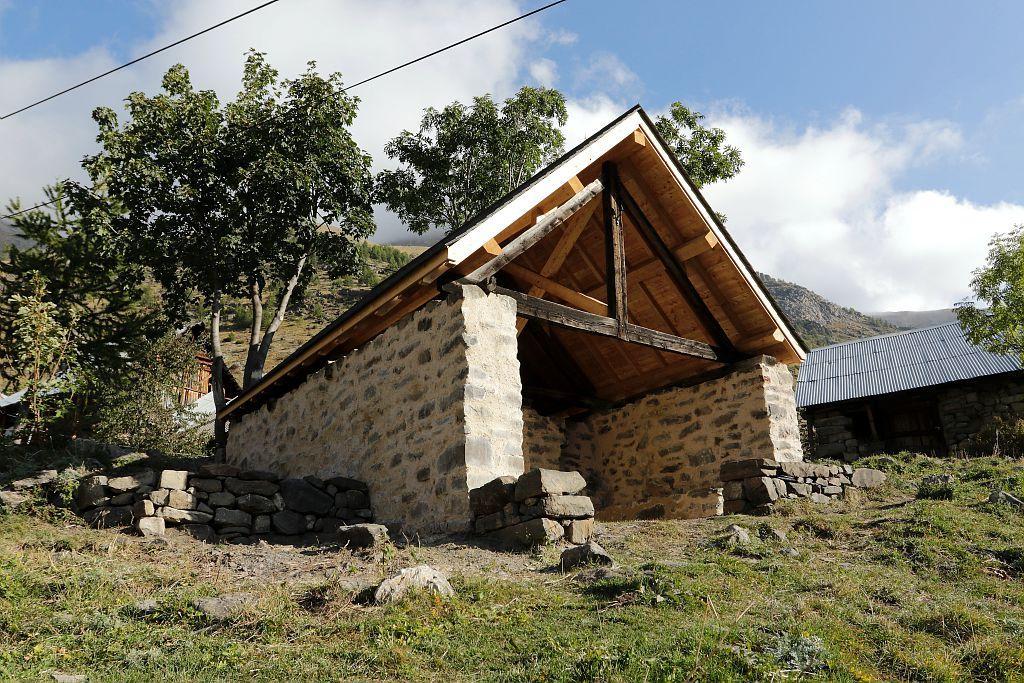 Four Dormillouse - travaux terminé été 2017 © Jean-Philippe Telmon - Parc national des Écrins