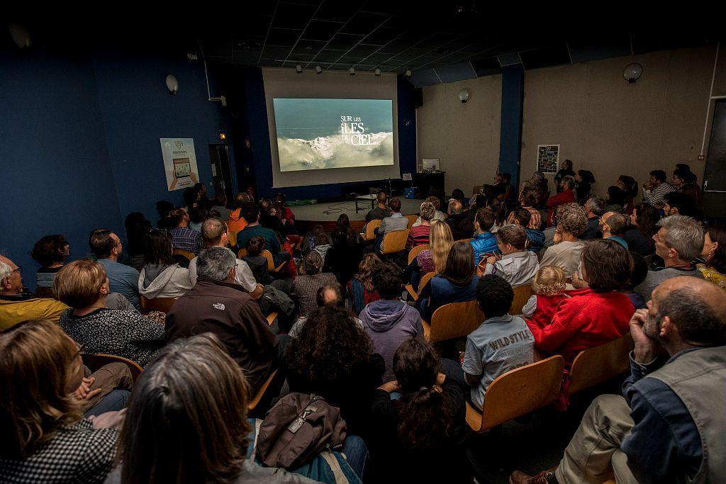 """Première projection du Film """"Les îles du ciel"""" -  Inauguration exposition Les îles du ciel - 6 octobre 2017 - muséum de Grenoble - © P.Saulay - Parc national des Ecrins"""