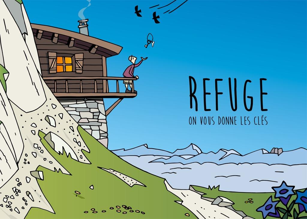 Livret Refuge 2018 - Parc national des Ecrins - © illustrations Joël Valentin