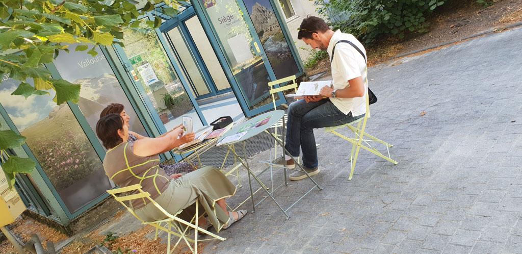 accueil bibliothèque Parc national des Ecrins - Domaine Gap Charance - juillet 2018