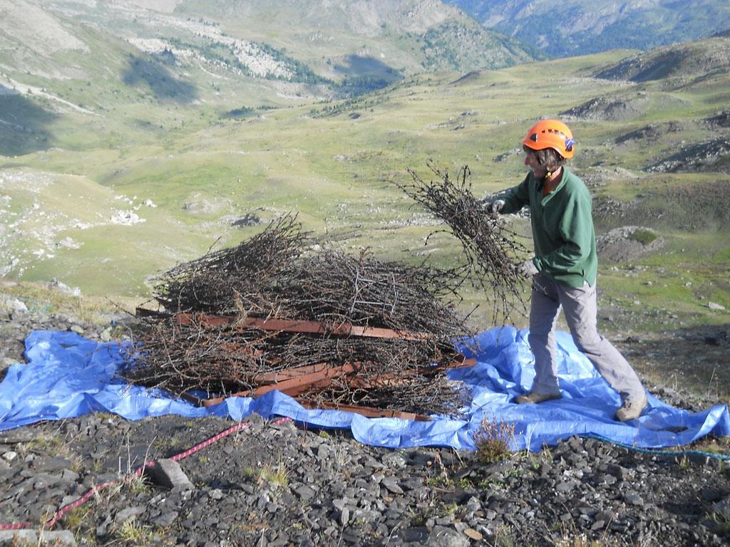 Nettoyage granon Mountain Wilderness - août 2018