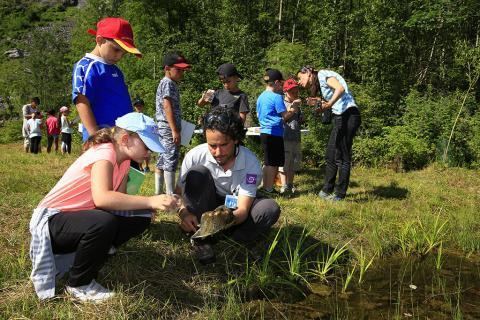 ecrins de nature 2018 - journée scolaire au Bourg d'Oisans © T.Maillet - Parc national des Écrins