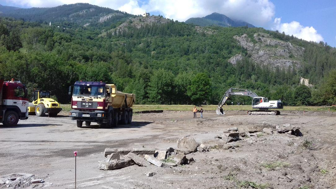 travaux parking - Maison du Parc de Vallouise - photo G. Martinez - Parc national des Ecrins