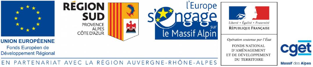 Logos partenaires Grand Tour des Ecrins