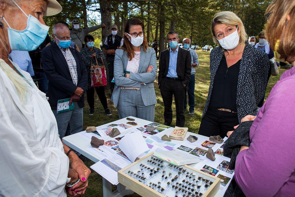 Visite dans le Champsaur de Mme Barbara Pompili, Ministre de la transition écologique et solidaire. © Thierry Maillet - Parc national des Ecrins