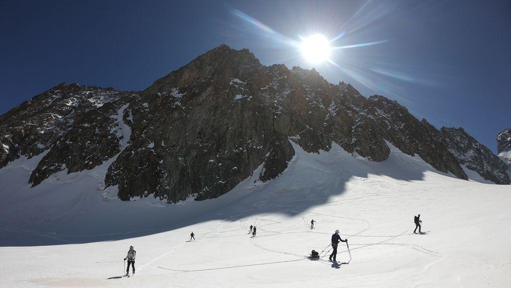 Mesures radar au glacier Blanc - © J. Charron - PNE