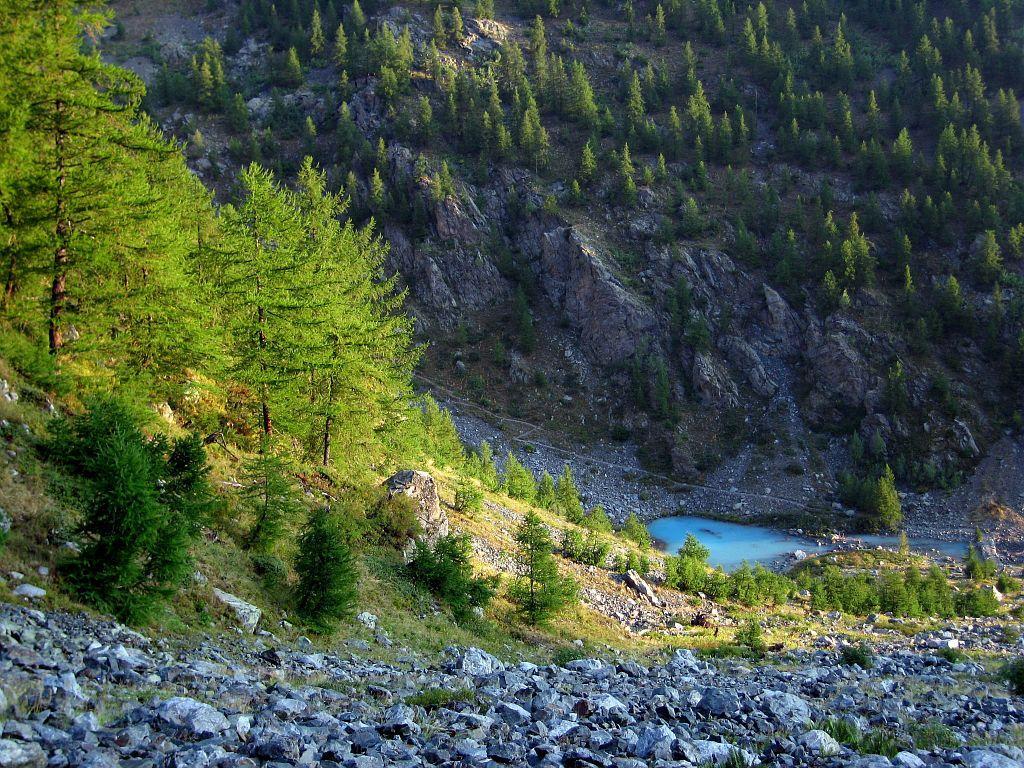 Le lac de la Douche © Hélène Quellier -Parc national des Ecrins