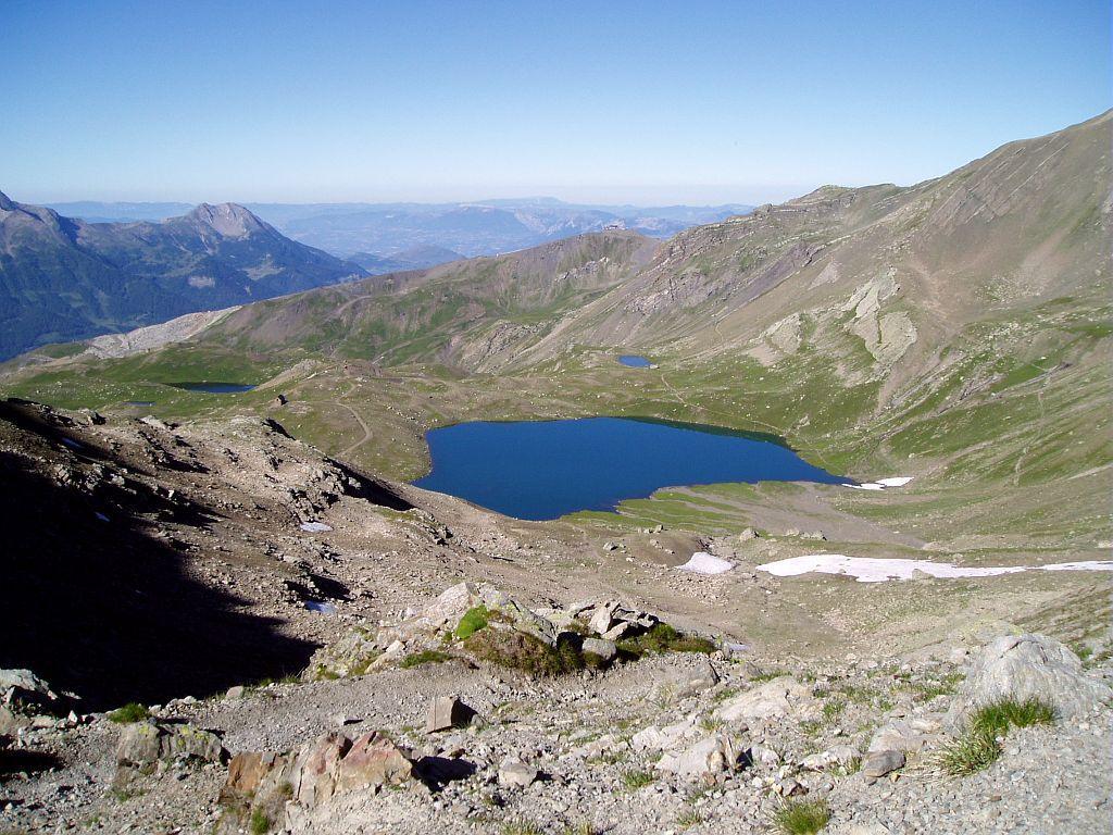Le Grand lac des Estaris pris du col de Freissinières © Jean-Philippe Telmon - Parc national des Ecrins