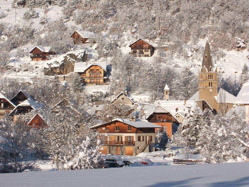 Vallouise sous la neige ©Thierry Maillet - Parc national des Ecrins