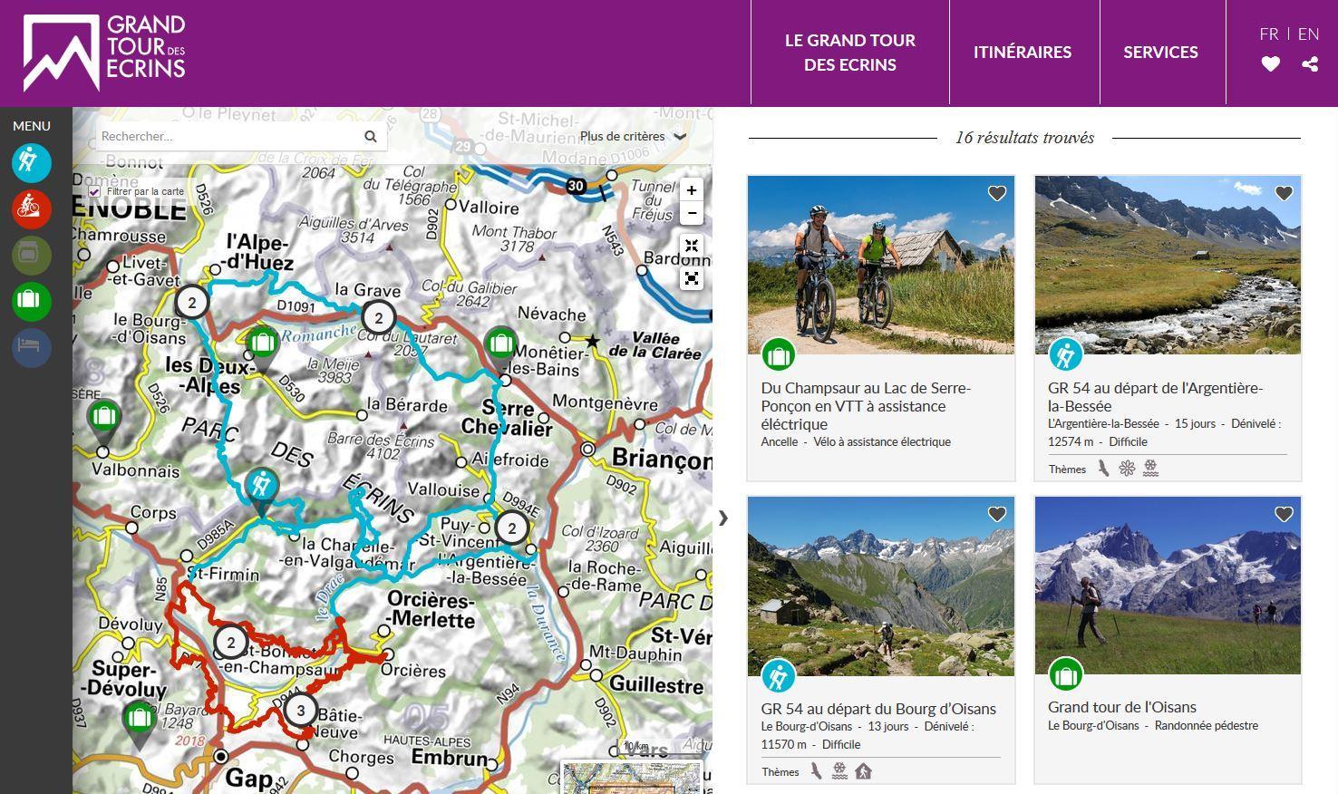 site du Grand tour des Ecrins -http://www.grand-tour-ecrins.fr