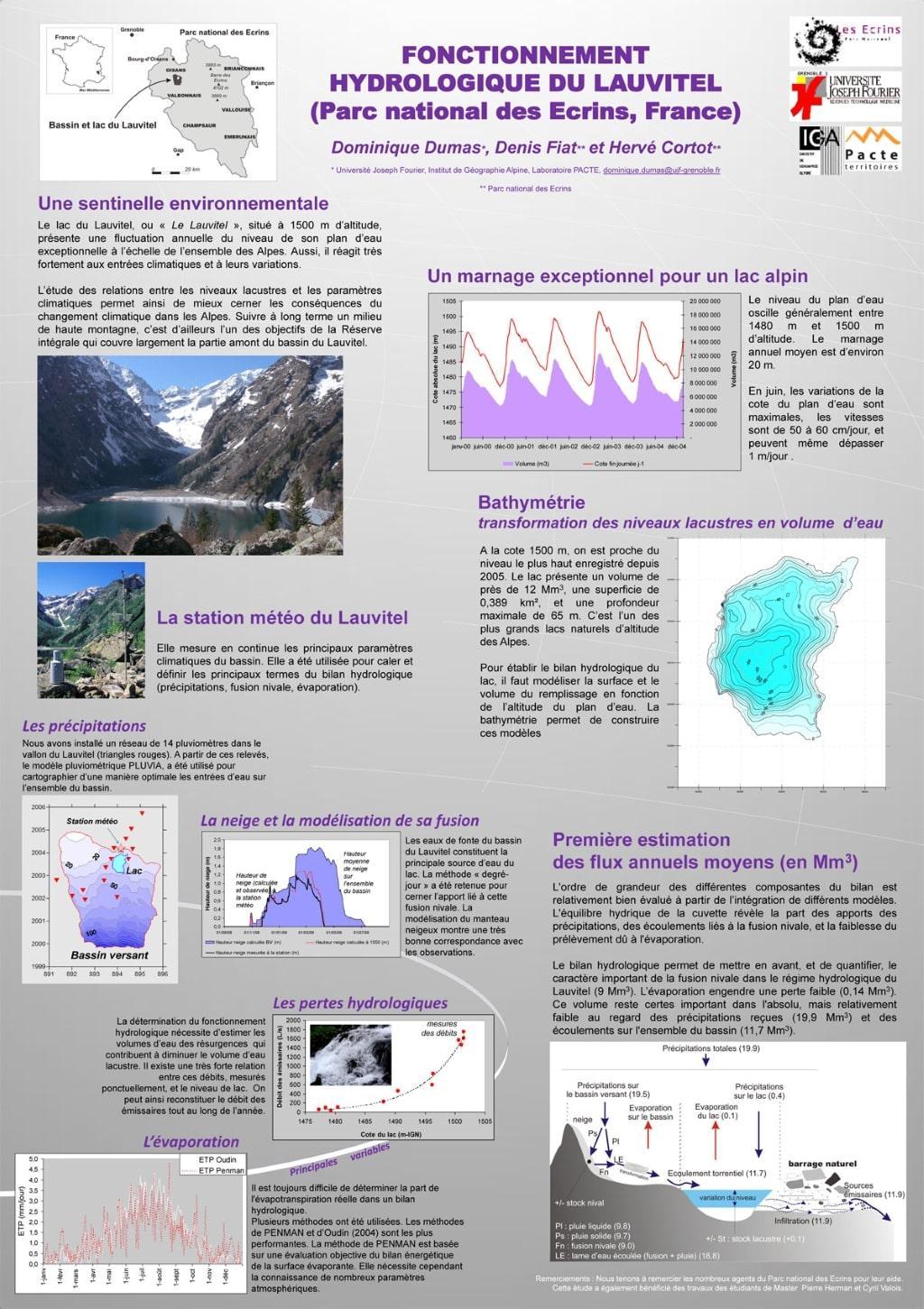 Fonctionnement hydrologique du Lauvitel © D. Dumas et PNE