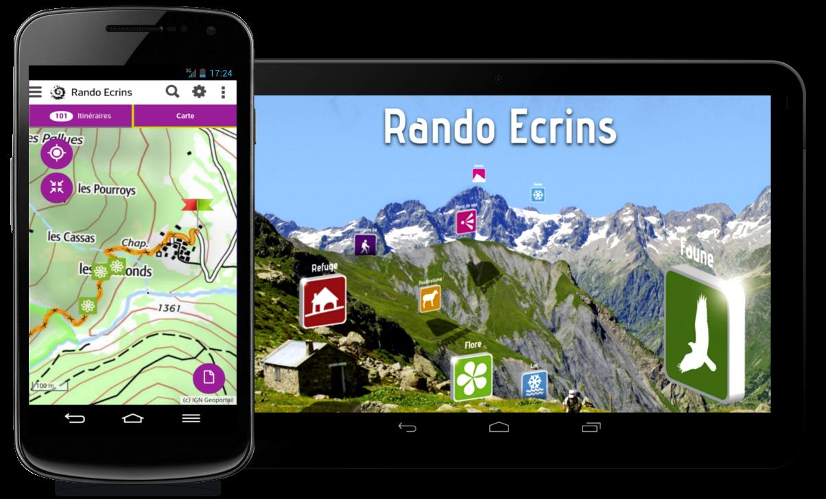 L'indispensable application mobile Rando Ecrins